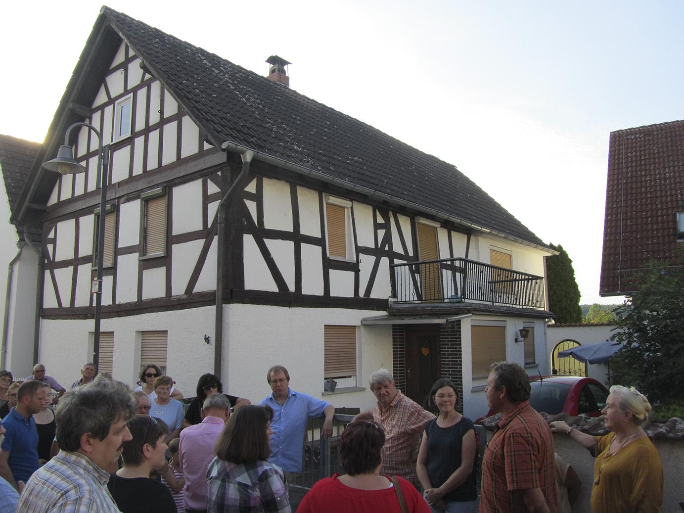 Die erste Station: Das wohl älteste noch existierende Haus von Oberau