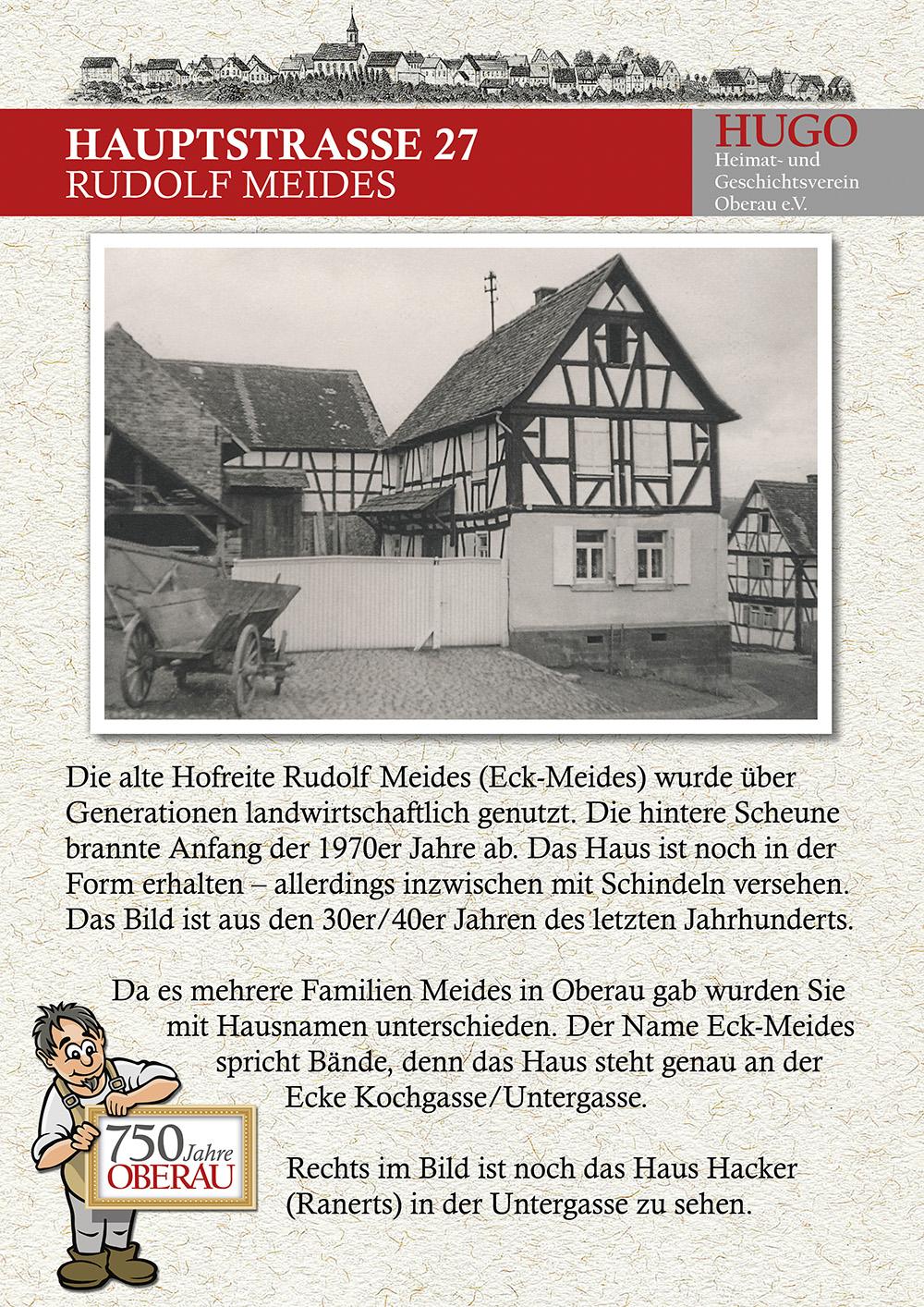 Hauptstraße 27 - Rudolf Meides