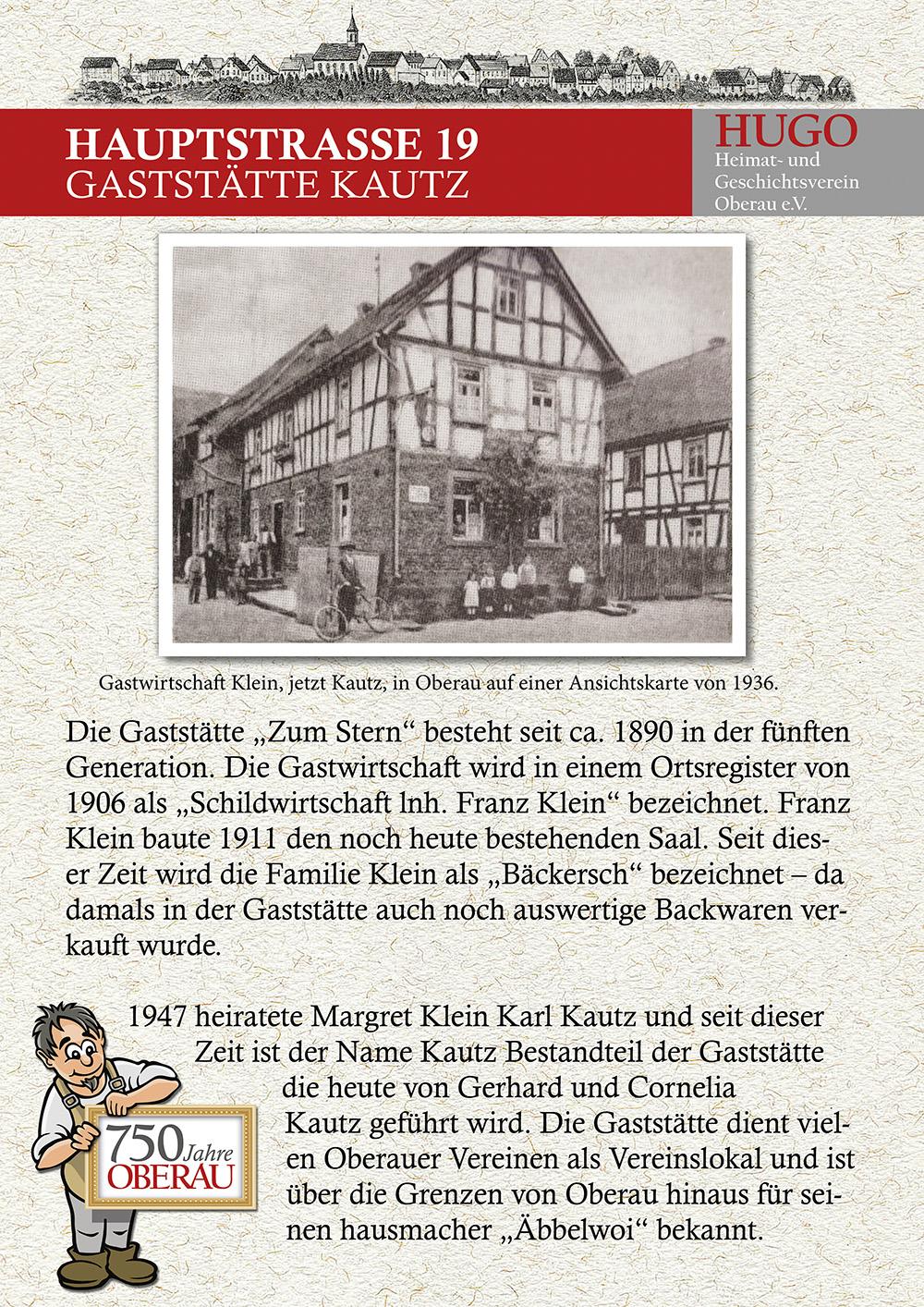 Hauptstraße 19 - Gaststätte Kautz