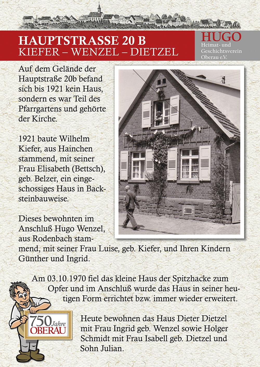 Hauptstraße 20b - Kiefer, Wenzel, Dietzel